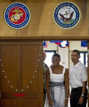 Barack y Michelle Obama en Hawai