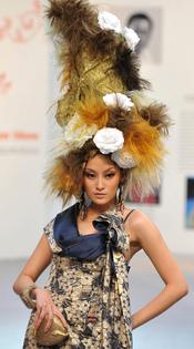 Desfile de moda en la 'Taipei International Flora Expo'