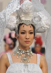 Alta Costura china en la 'Taipei International Flora Expo'