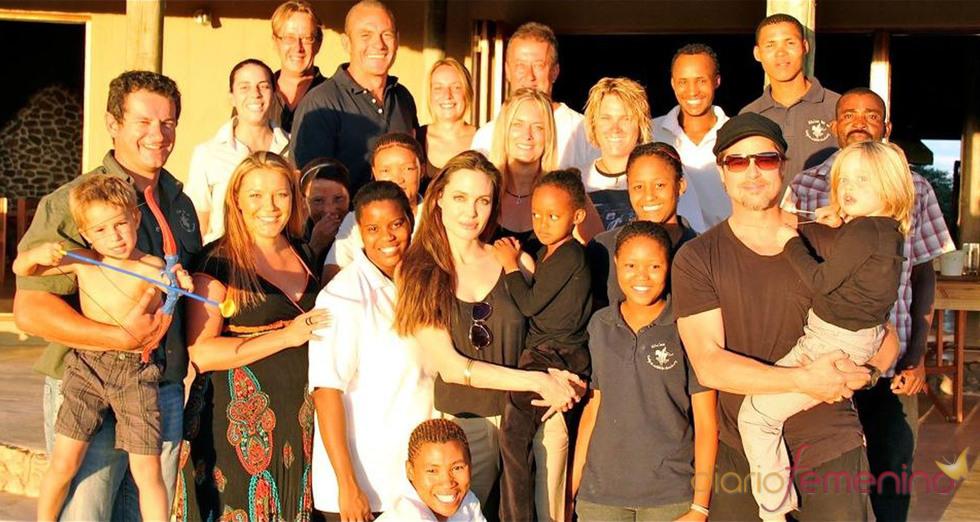 Brad Pitt y Angelina Jolie, Navidad en Namibia