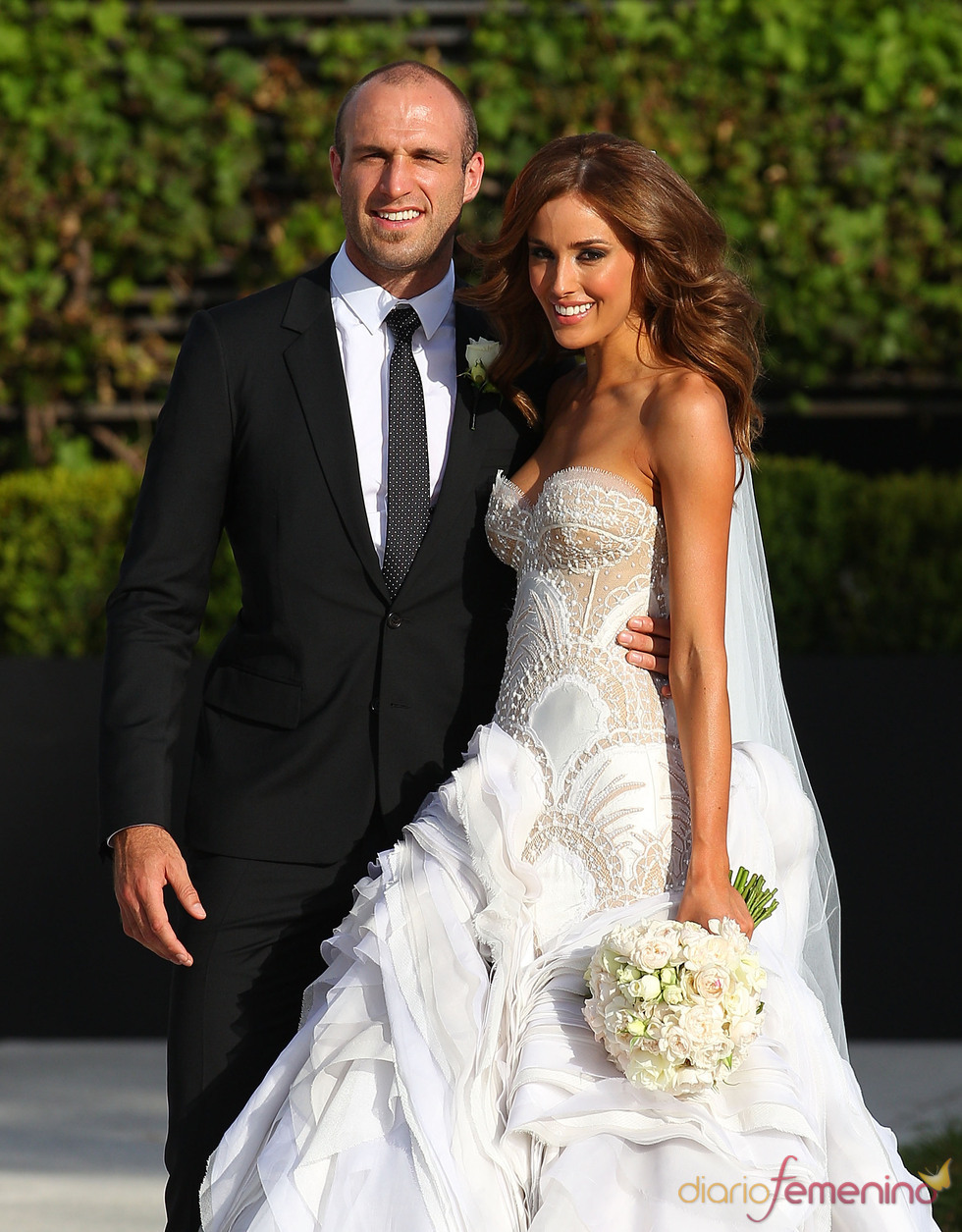 Espectacular enlace de Chris Judd y Rebecca Twigley