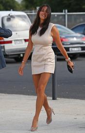 La modelo Jessica Gomes acude al enlace de Chris Judd y Rebecca Twigley