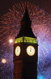 La celebración del año nuevo en Londres