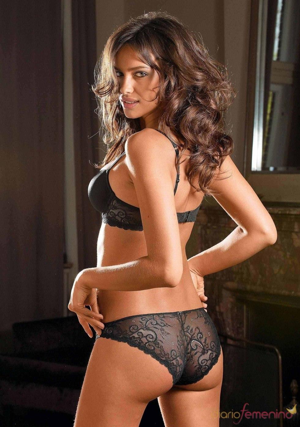 La modelo Irina Shayk posa en ropa interior para 'La Senza'