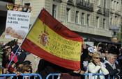 La manifestación catolica celebrada en Colón reúne a miles de personas