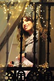 Sara Carbonero, muy feliz antes de dar las Campanadas 2011 de Telecinco