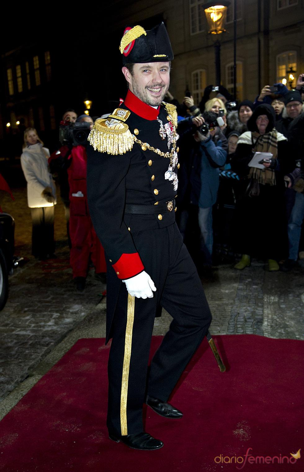 Federico de Dinamarca en la cena de gala de Año Nuevo