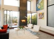 Sala de estar de la nueva casa de Lindsay Lohan