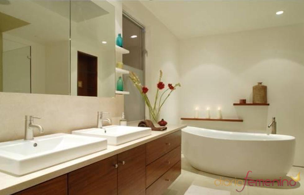 Cuarto de ba o de la nueva casa de lindsay lohan - Complementos cuarto de bano ...
