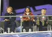 Los tres hijos de los Beckham en California