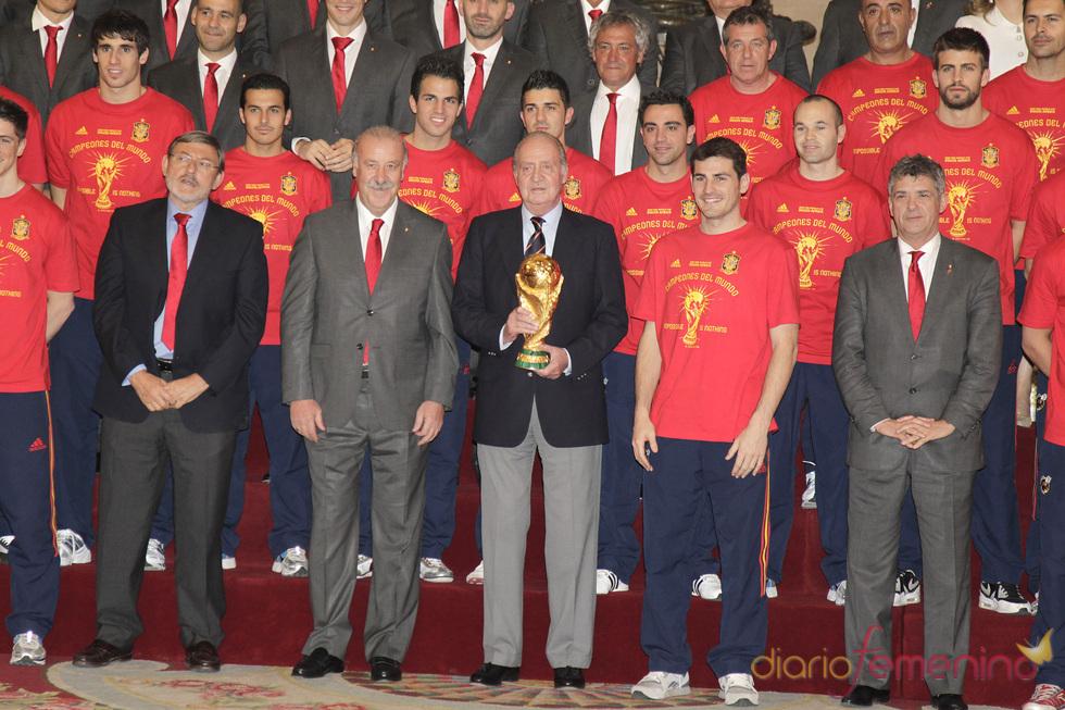 El Rey Juan Carlos con la Selección Española