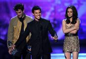 Robert Pattinson, Kristen Stewart y Taylor Lautner juntos
