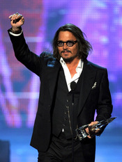 Johnny Depp en el People's Choice Awards 2011