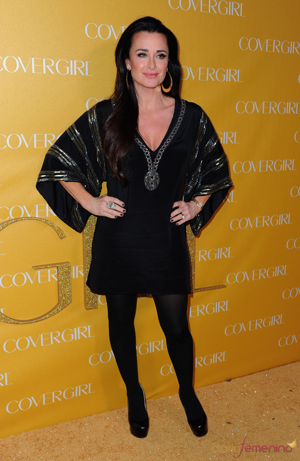 Kyle Richards en la Fiesta Covergirl