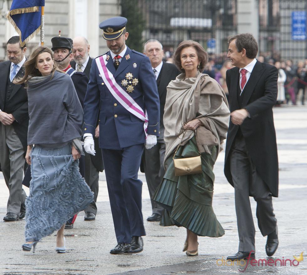 Los Príncipes de Asturias y la Reina Sofía en la Pascua Militar