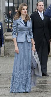 La Princesa Letizia confió en Felipe Varela para la Pascua Militar