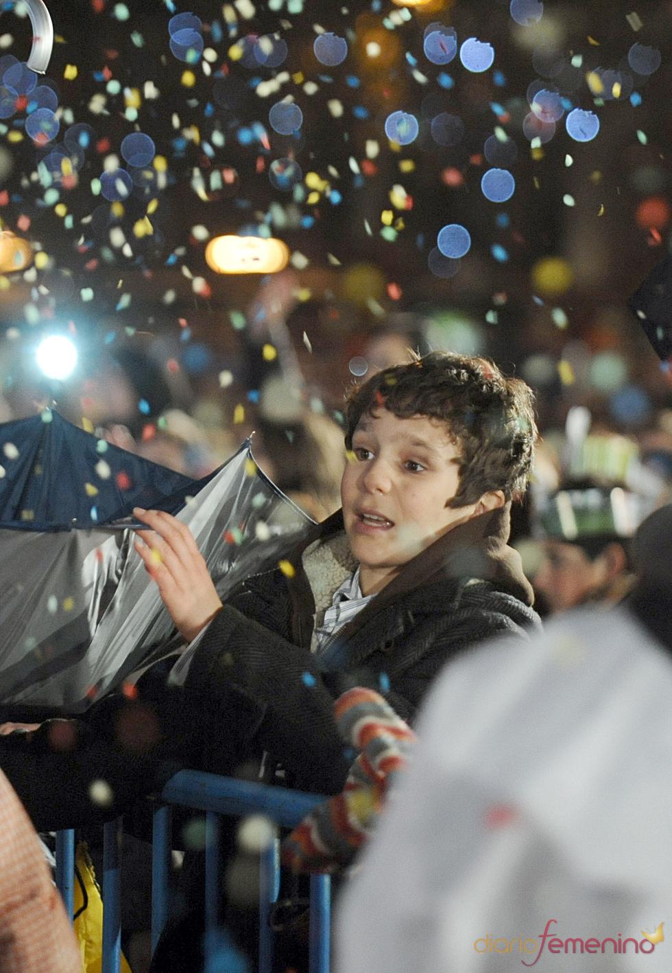 Froilán, a la caza del caramelo en la Cabalgata de Reyes 2011
