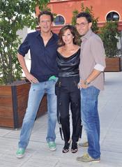 Joaquín Prat, Máxim Huerta y Ana Rosa Quintana