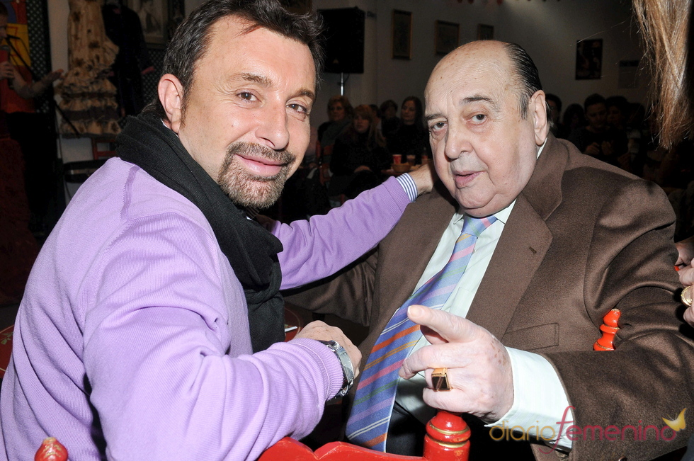 Juanito Navarro con José Manuel Parada