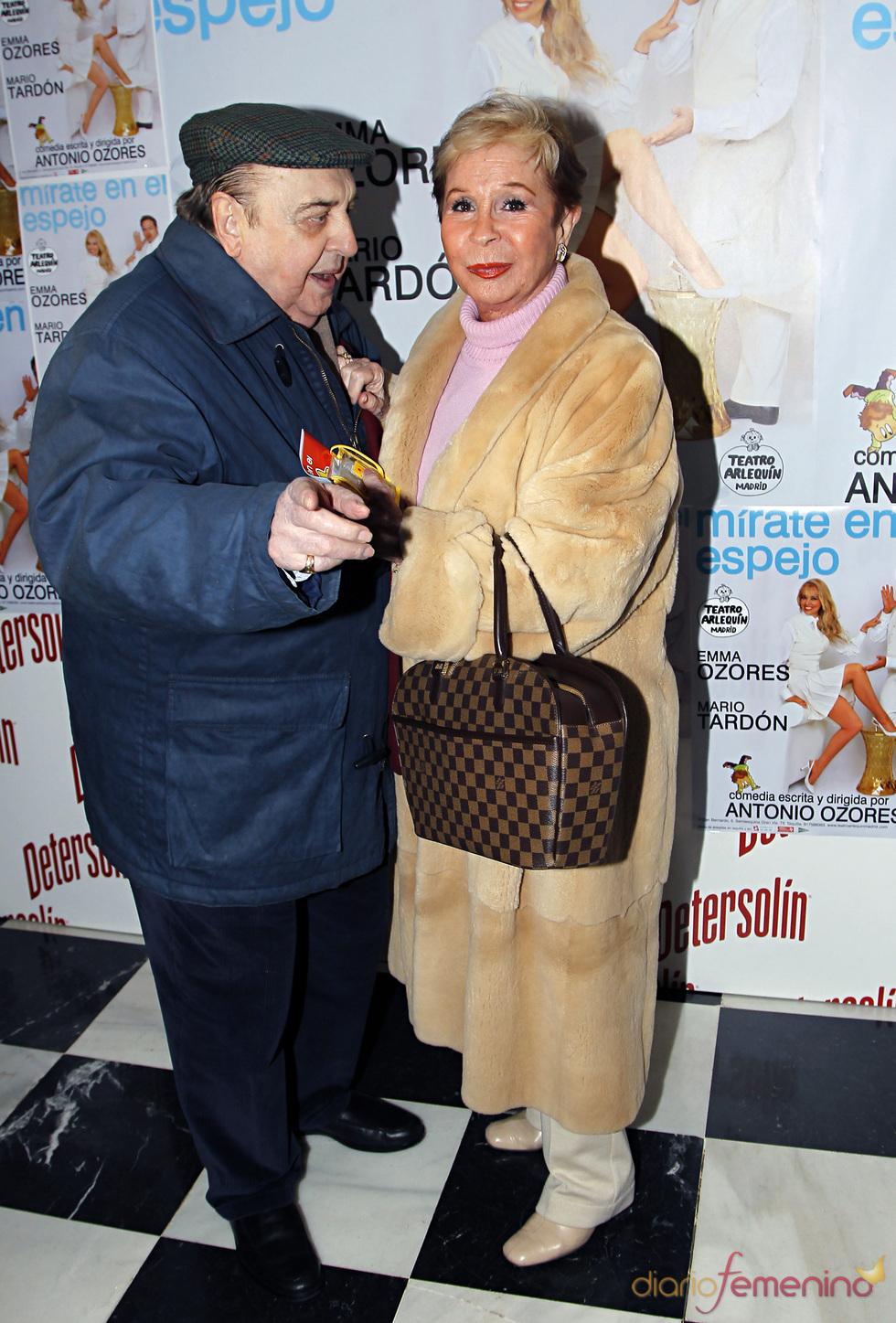 Juanito Navarro con Lina Morgan