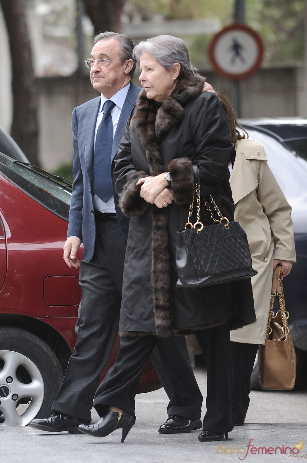 Último adiós de Florentino Pérez a su suegra