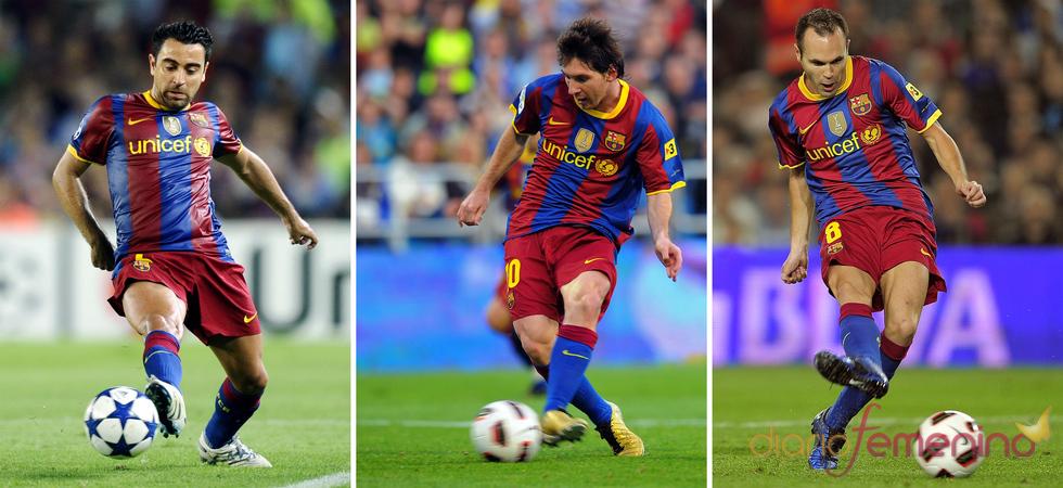 Xavi Hernández, Messi y Andrés Iniestas finalista del Balón de Oro 2010