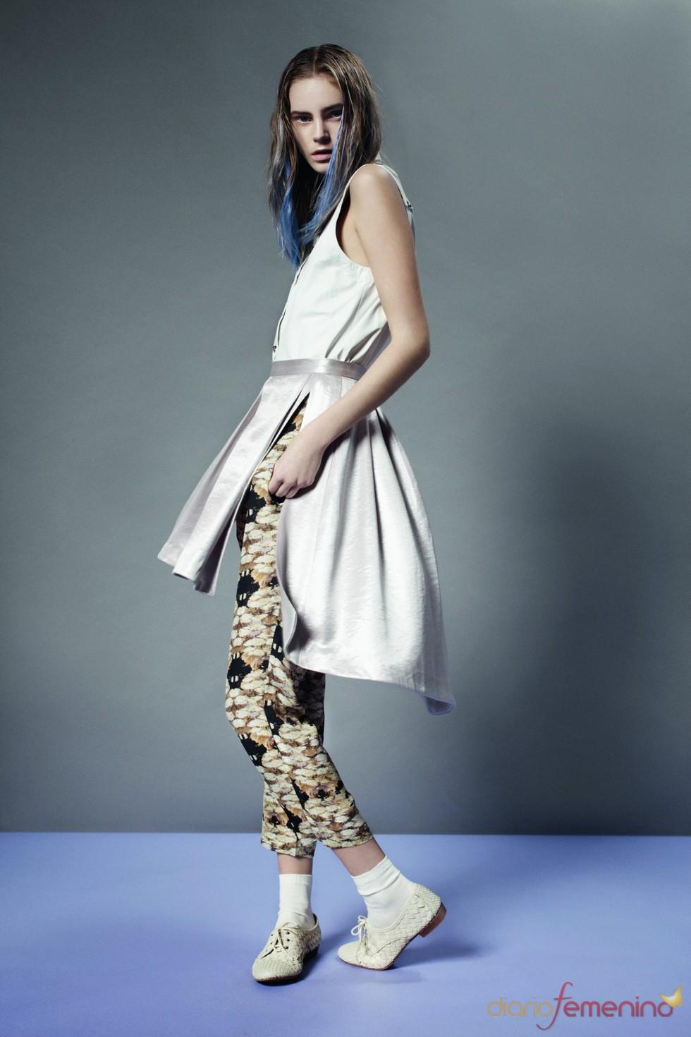 Superposción de falda y pantalón de Topshop p/v 2011