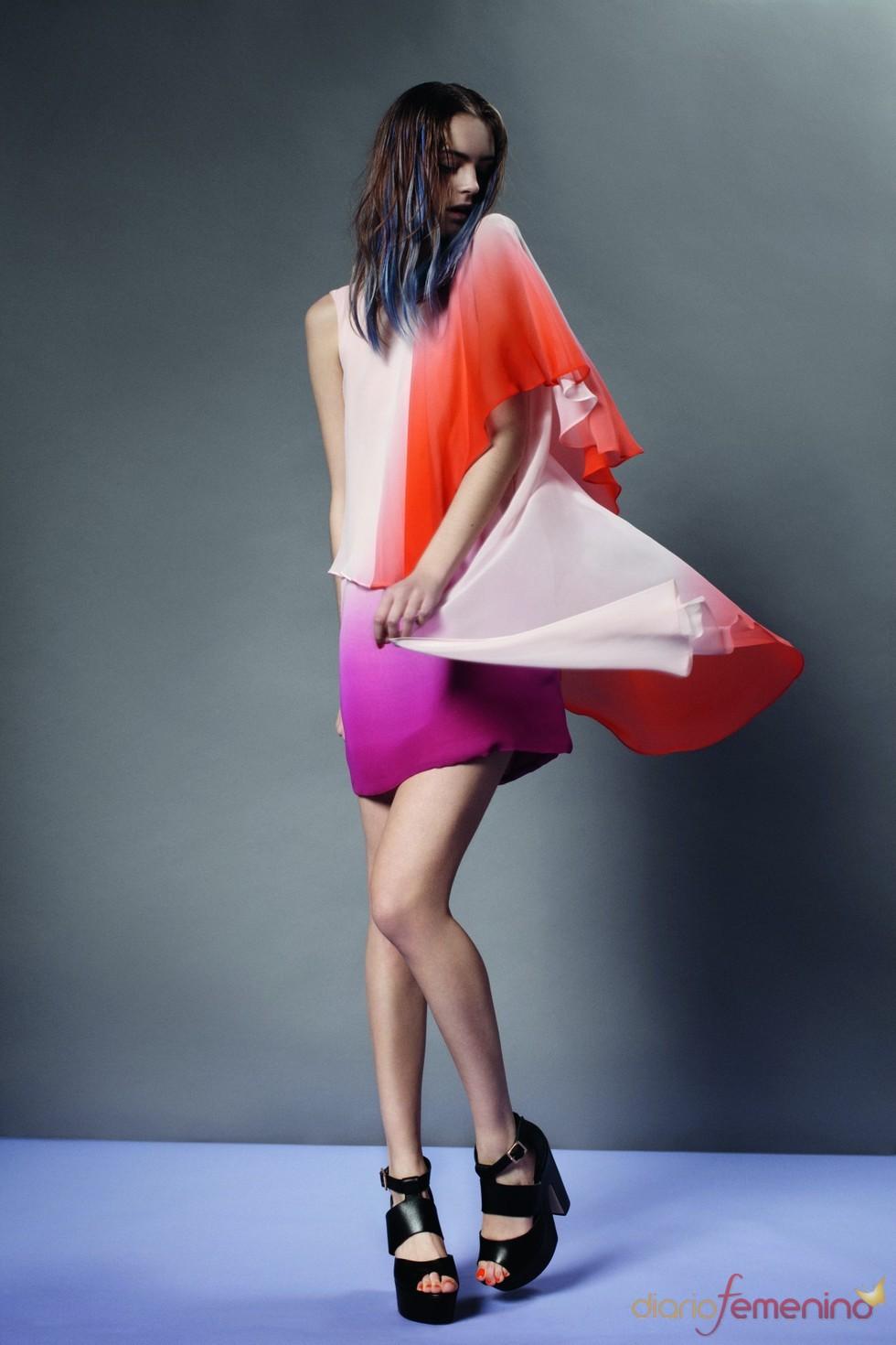 Look colorido de Topshop p/v 2011