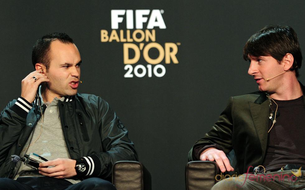 Iniesta y Messi, finalistas del Balón de Oro 2010