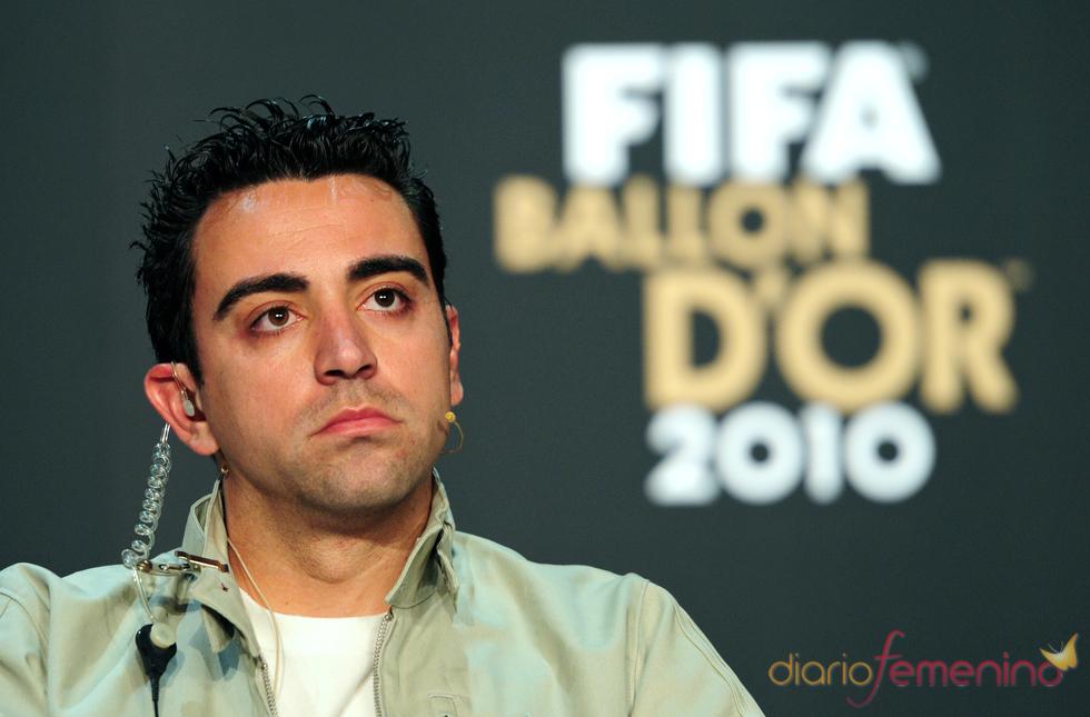 Xavi Hernández, finalista del Balón de Oro 2010