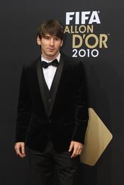 Leo Messi, minutos antes de la gala FIFA Balón de Oro 2010