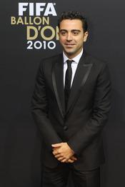 Xavi Hernández, minutos antes de la gala FIFA Balón de Oro 2010