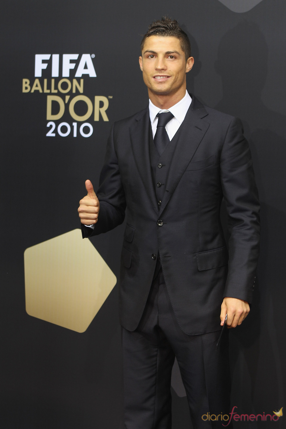 Cristiano Ronaldo en la gala FIFA Balón de Oro 2010