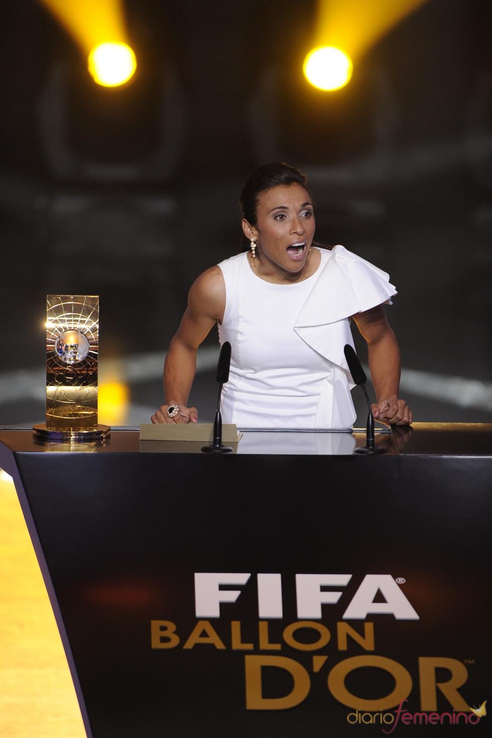 Marta, elegida 'Mejor jugadora del mundo'
