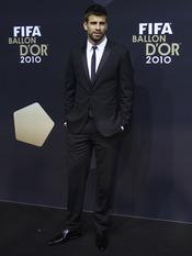 Gerard Piqué en la gala FIFA Balón de Oro 2010