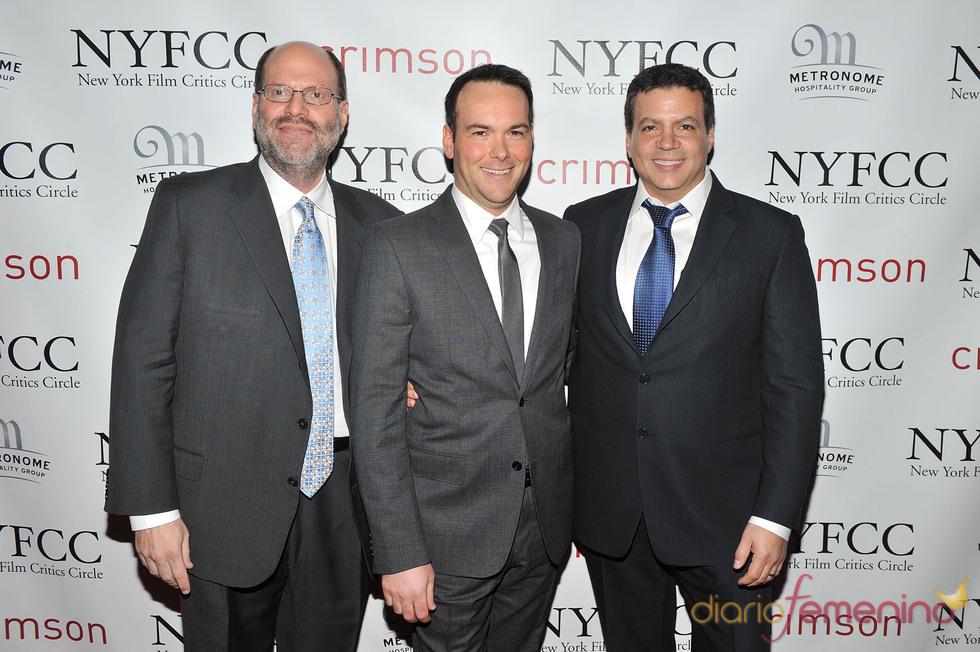 Scott Rudin, Dana Brunetti y Mike Deluca en la Gala de los Premios Critics 2011