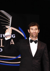 Mark Webber en la gala de la FIA