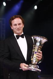 Christian Horner, jefe de Redbull, premiado en la gala de la FIA