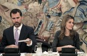Los príncipes de Asturias inaguran un proyecto cultural en Galicia