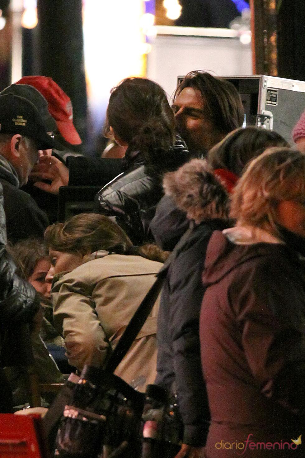 Tom Cruise, muy cariñoso con Katie Holmes