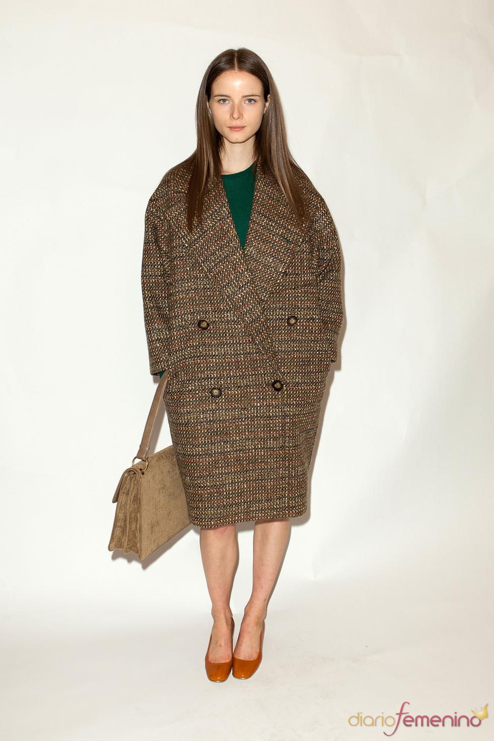 Abrigo oversize en tejido tweed pre coleccion Stella McCartney otoño 2011