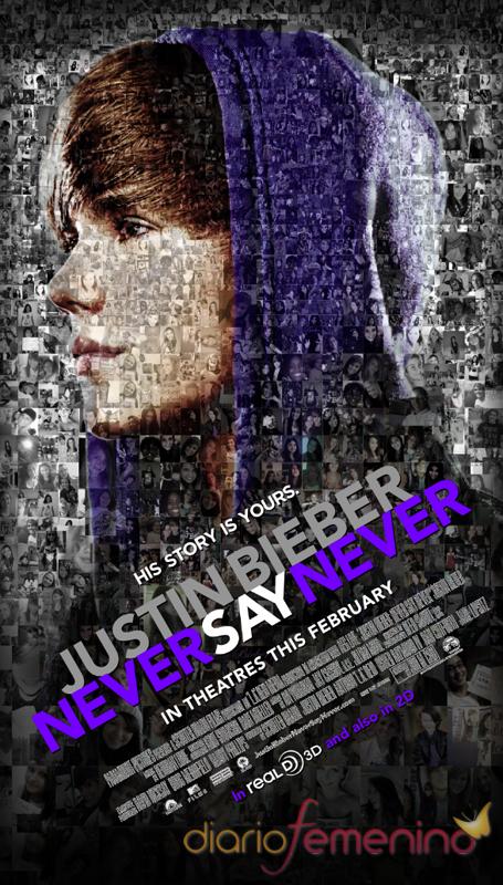 Nuevo póster de la película de Justin Bieber 'Never say never'