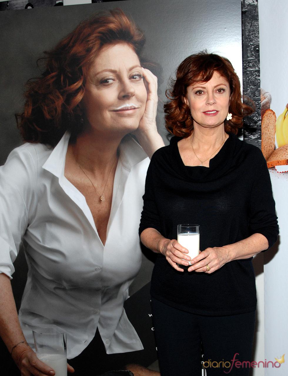 Susan Sarandon y su campaña para consumir leche