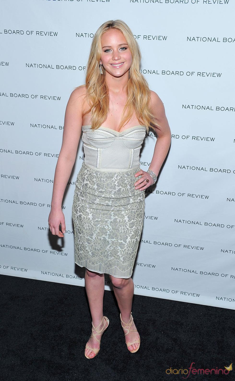 Jennifer Lawrence en los Premios de la Junta Nacional de Críticos