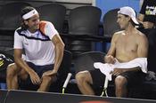 Rafa Nadal enseña su torso a Feliciano López
