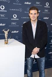 Juan Mata en la presentación de los Premios Laureus