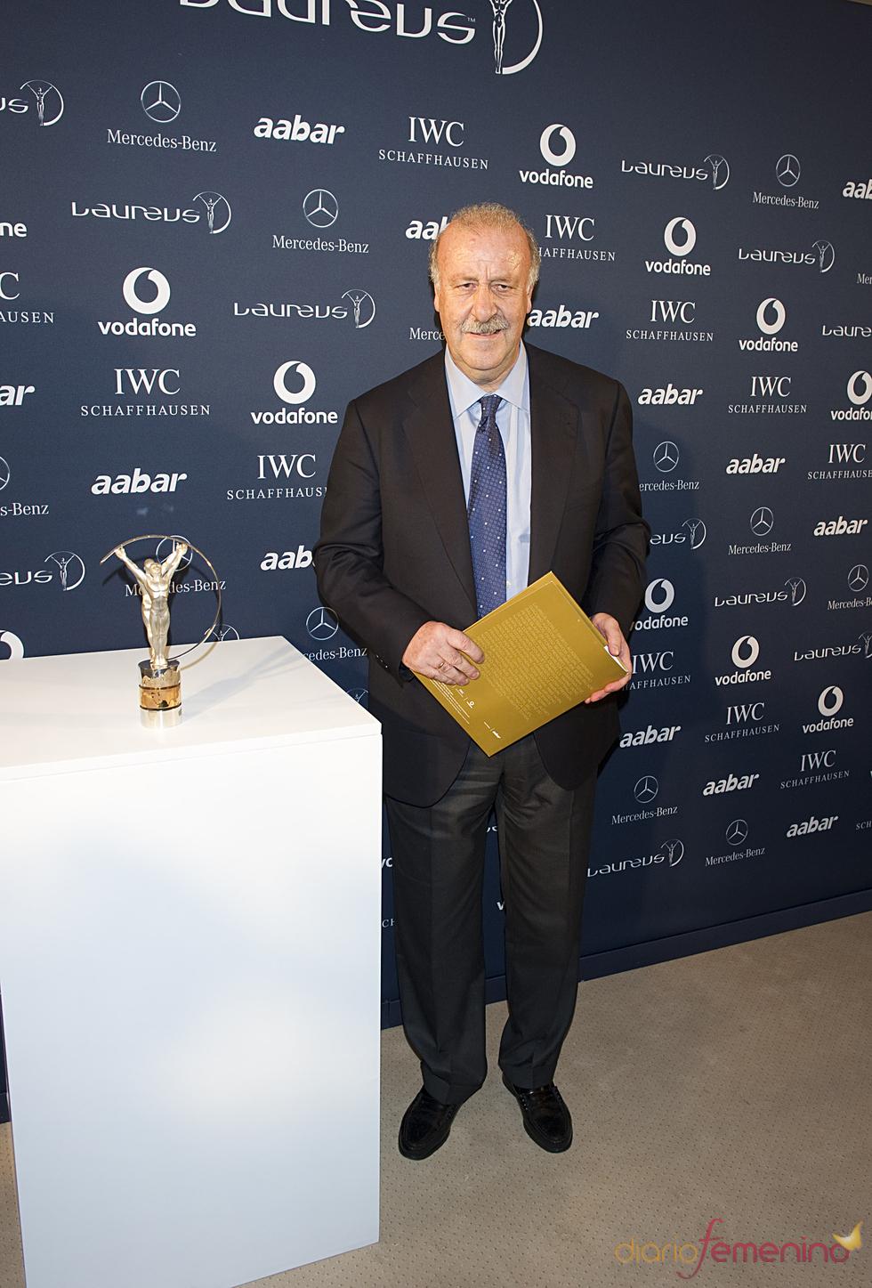 Vicente del Bosque en la presentación de los Premios Laureus