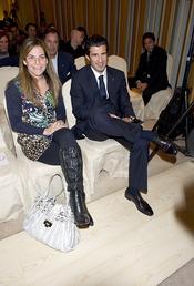 Luis Figo y Arancha Sánchez Vicario durante la presentación de los Premios Laureus
