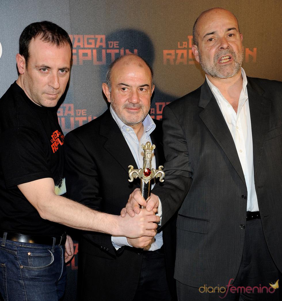 Antonio Molero, Jesús Bonilla y Antonio Resines en la presentación de 'La daga de Rasputín'