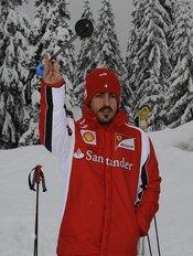 Fernando Alonso se pasa al esquí